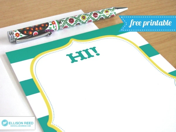 free printable stationery note card she melissa or so she says