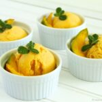 Mango-Greek Yogurt Sherbet by www.whatscookingwithruthie.com