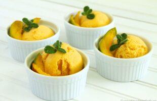 Mango Greek Yogurt Sherbet (she: Ruthie)