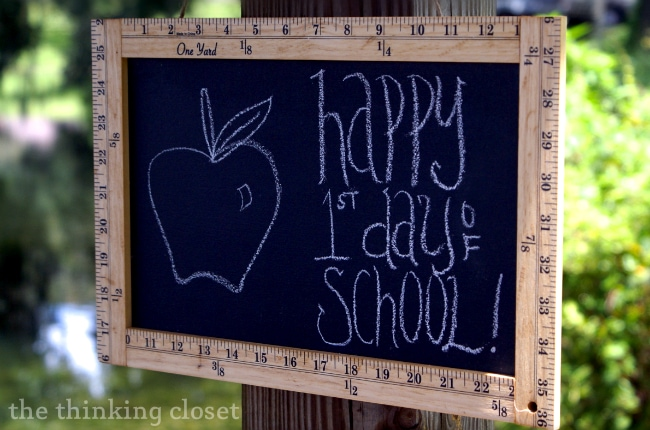 "Ruler Frame Chalkboard Tutorial - - perfect ""back-to-school"" gift for teachers or for a first-day-of-school photo of your child!"