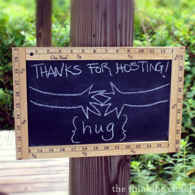 Ruler Frame Chalkboard Tutorial - - a great hospitality gift!