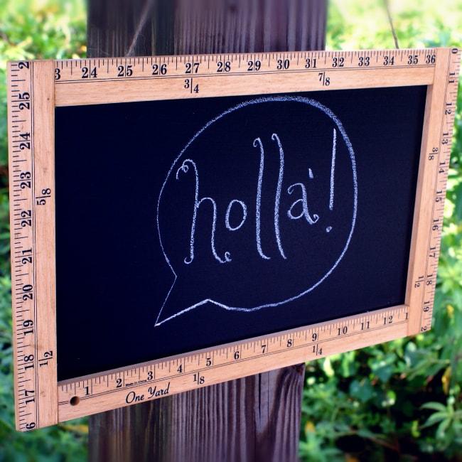 Vintage Ruler Frame Chalkboard Sign Tutorial (she: Lauren) - Or so ...