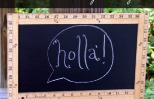 Ruler Frame Chalkboard Sign Tutorial by The Thinking Closet