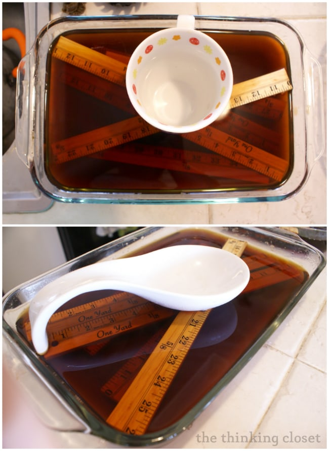 For a natural method of wood staining, try staining with tea!