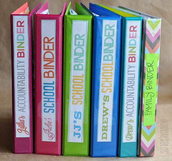 Binders to help with organization www.thirtyhandmadedays.com
