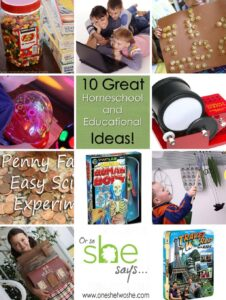 10 Great Homeschool and Educational Ideas (& Link Party!)