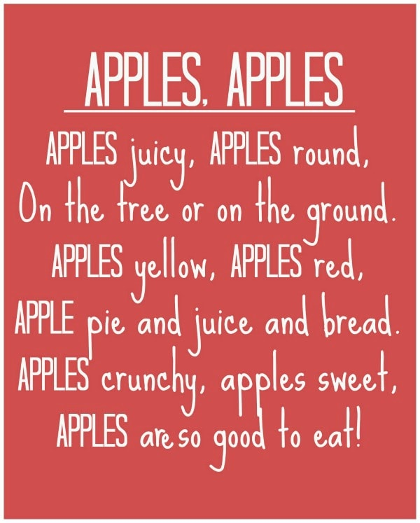 Apples, Apples Poem