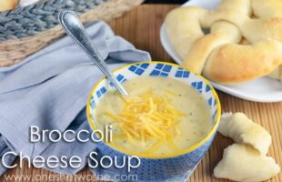 Broccoli Cheese Soup www.oneshetwoshe.com