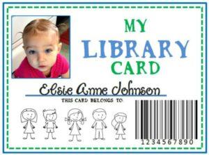 Family Library & DIY Pretend Library Card (she: Kristina)