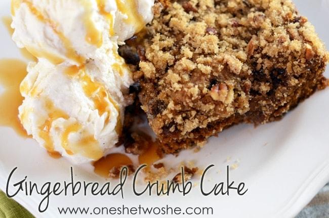 Gingerbread Crumb Cake
