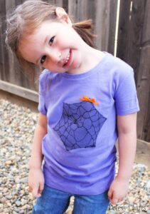 Spider Web Halloween Shirt for Kids (she: Jessica)