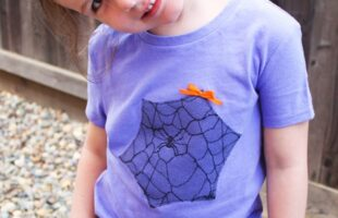 Spider Web Halloween Shirt for Kids (she: Jessica)