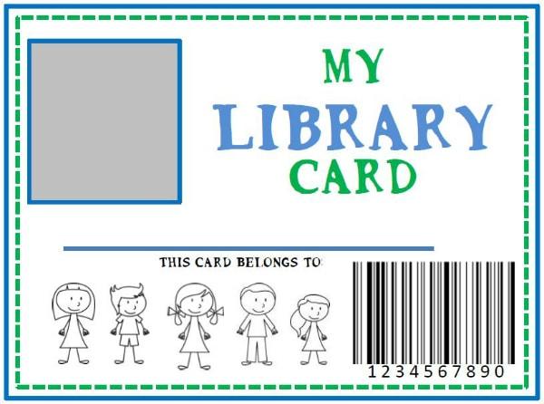 Pretend Library Card DIY