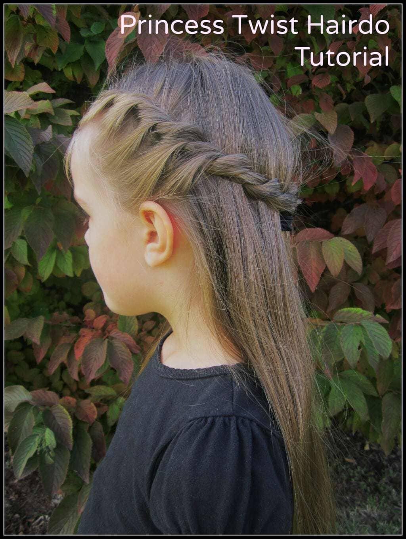 Easy Princess Twist Hairdo Tutorial She Rebecca Or So She Says