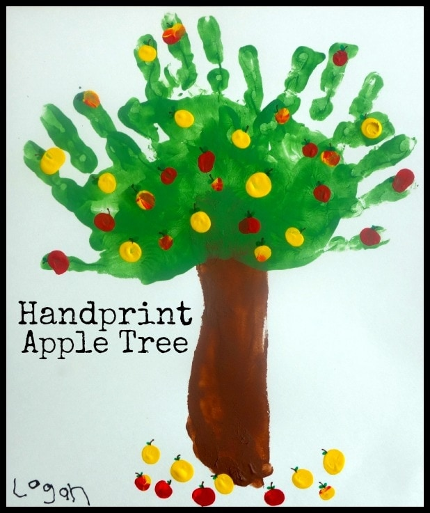 Handprint Apple Tree ~ Fun Fall Art Project For Kids (she ...