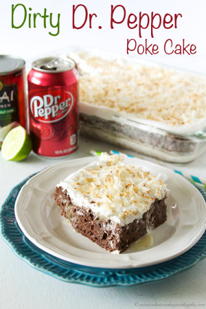 Dirty Dr. Pepper Poke Cake by www.whatscookingwithruthie.com