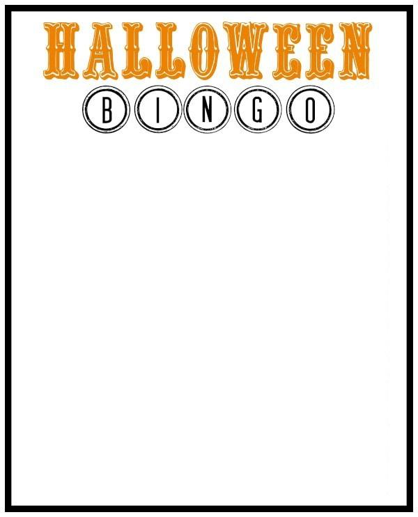 Halloween BINGO Blank
