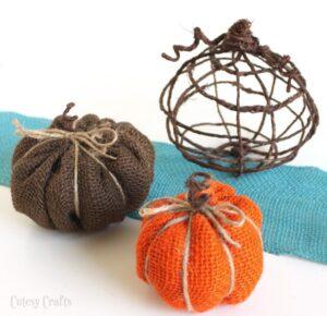 Grapevine Wire Pumpkins (she: Jessica)