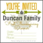 First Thanksgiving Dinner ~ Fun Family Tradition W/ Printable Invitation (she: Brooke)
