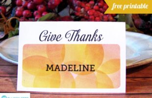 Free Printable! Editable Thanksgiving Place Cards (she: Melissa)
