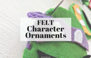 Felt Ornaments - Craft Your Kids' Favorite Characters this Christmas www.orsoshesays.com #christmas #DIY #feltornaments #ninjaturtles #hellokitty #characterornaments