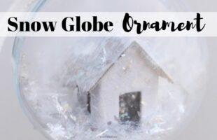 Handmade Christmas Ornaments - Snow Globe Ornament Tutorial on www.orsoshesays.com #ornaments #christmas #diy #christmasornaments #snowglobe #snowglobeornament #snowglobediy