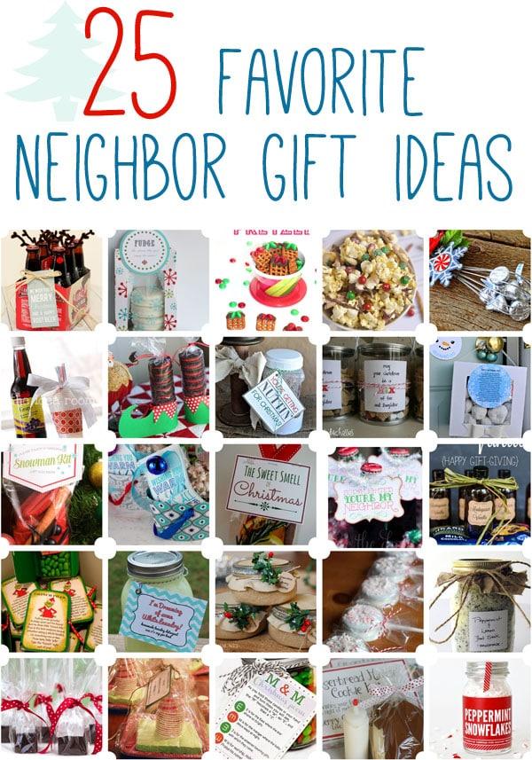 25 Favorite Neighbor Gift Ideas www.oneshetwoshe.com #christmas #neighborgifts #giftideas