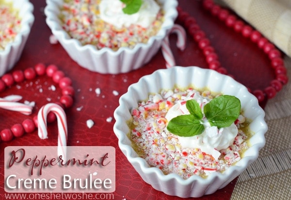 Peppermint Creme Brulee ~ The Perfect Christmas Dessert! - Or so she ...