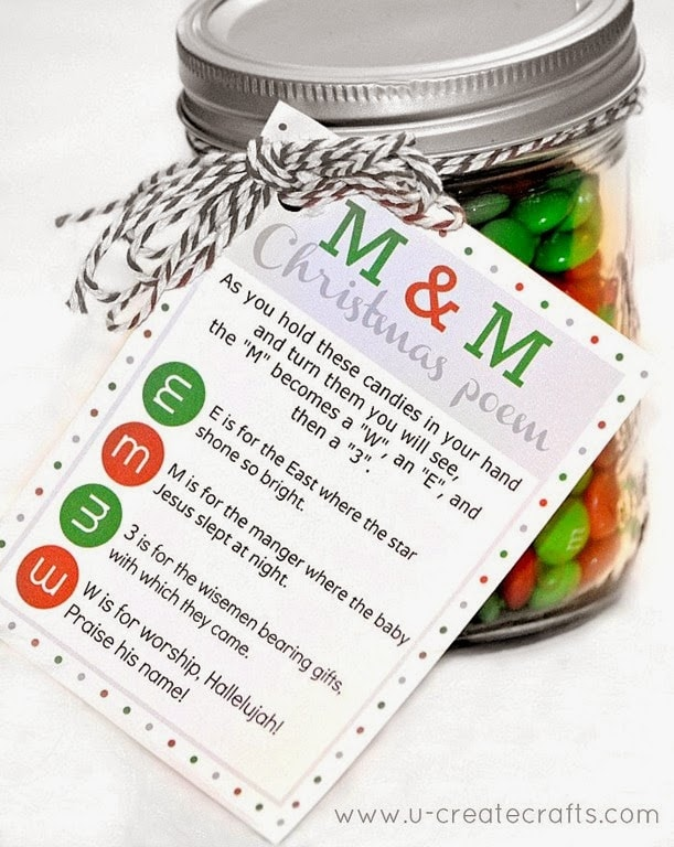 M&M Christmas Gift ~ Gift Idea for Neighbors
