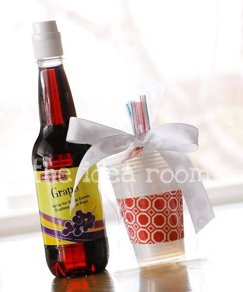 Snow Cone Flavor Gift ~ Gift Idea for Neighbors
