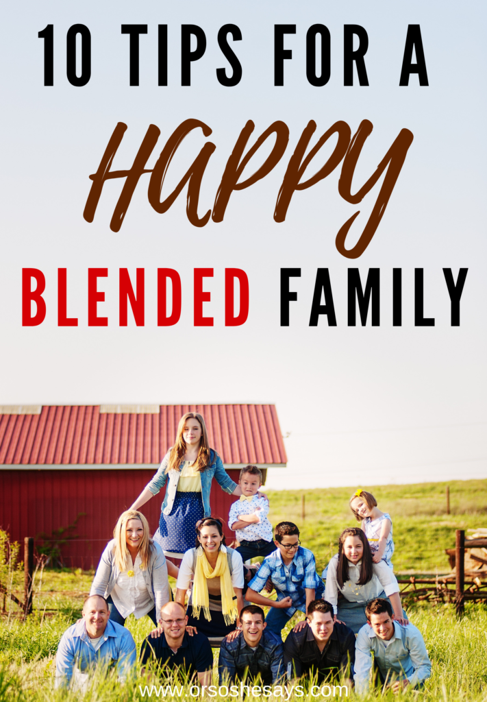 happy blended family