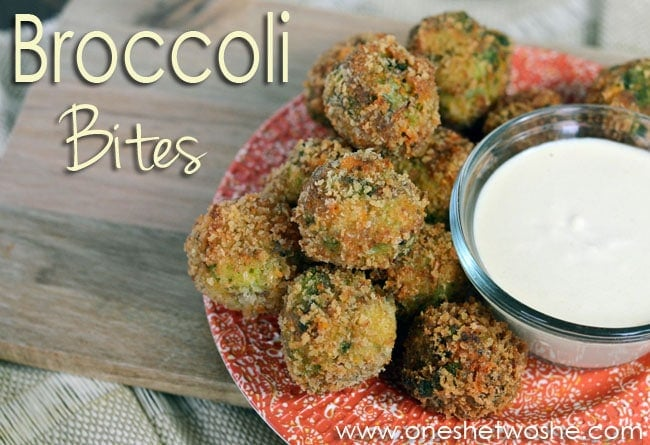 Broccoli Bites with Ranch Dip from 'Or so she says...'