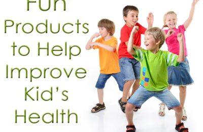 Fun Products to Help Improve Kid's Health www.oneshetwoshe.com