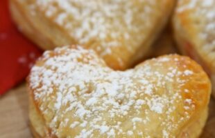 heart shaped puff pastry