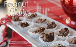 Chocolate Peanut Clusters ~ Easy Valentine's Day Treat!