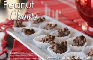 Peanut Clusters ~ Easy Valentine's Day Treat! www.oneshetwoshe.com