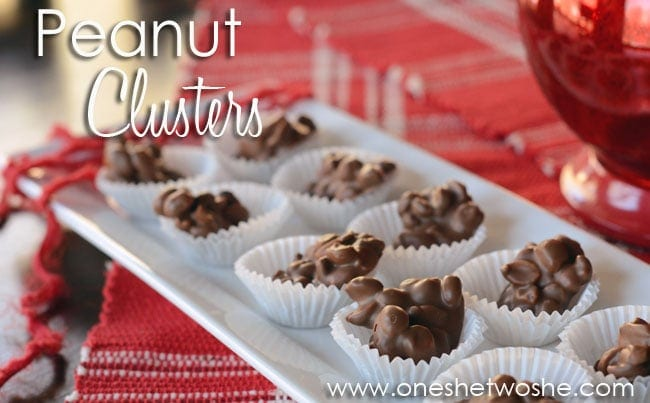 Peanut Clusters ~ Easy Valentine's Day Treat! www.oneshetwoshe.com