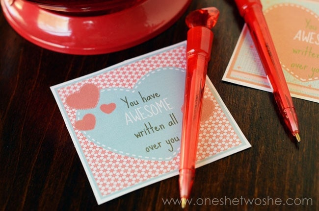 'You've got AWESOME written all over you' Printable Valentine www.orsoshesays.com
