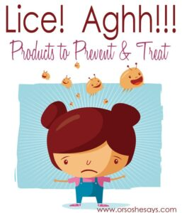 Products to Prevent and Treat Lice (she: Rebecca)