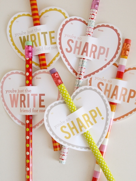 'You're So Sharp' Valentine Printable www.orsoshesays.com