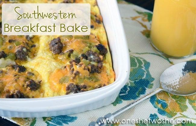 Southwestern Breakfast Bake ~ Easy & Hearty Breakfast - Or so she says ...