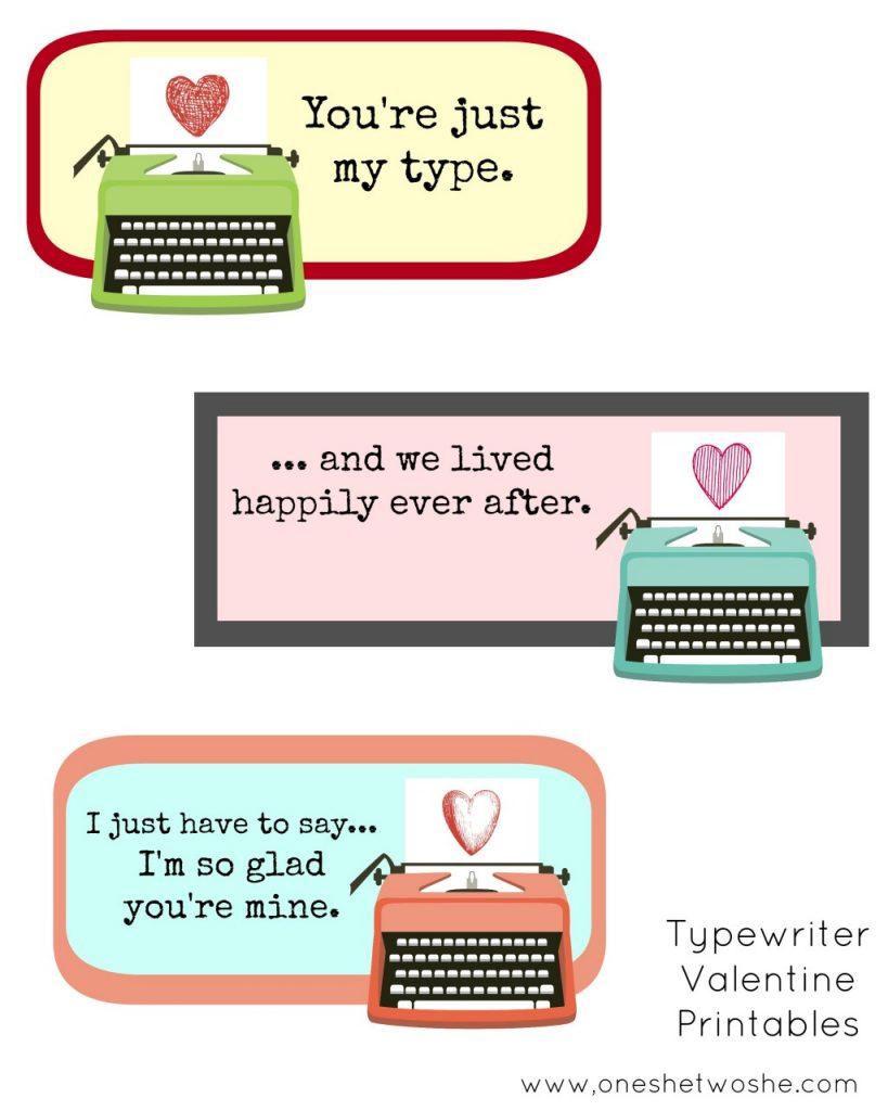 Typewriter Valentines