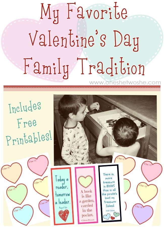 My Favorite Valentine's Day Family Tradition www.oneshetwoshe.com