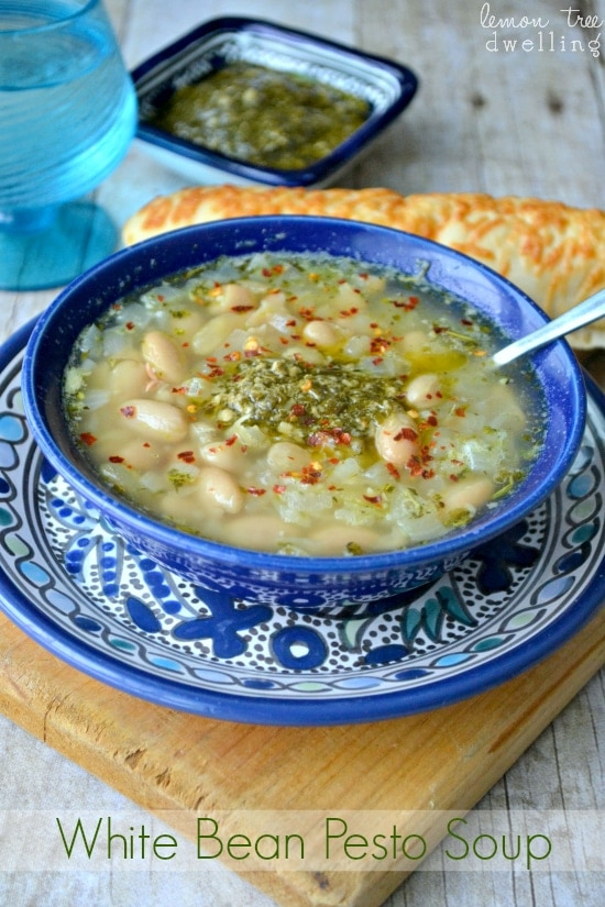 White Bean Pesto Soup 4