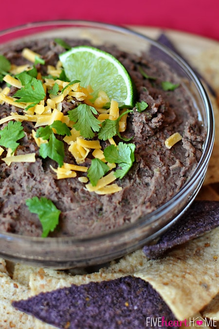 Zesty Black Bean Dip ~ a healthy, quick and easy snack for Super Bowl ...