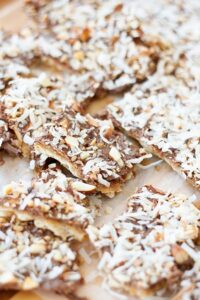Toasted Coconut & Almond Matzoh Candy (she: Anne)