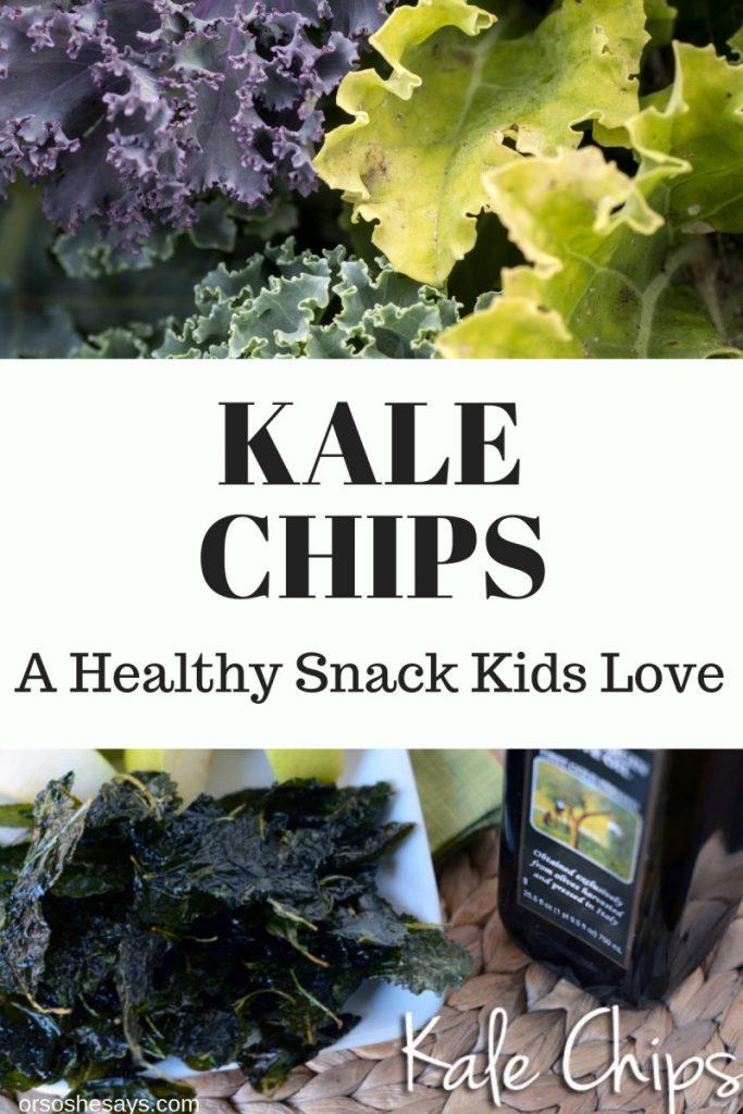Kale Chips ~ Kids Love Them! www.oneshetwohse.com #kale #kalechips #healthysnacks #recipe