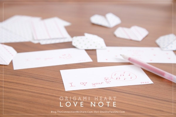 Origami Heart Love Notes She Amy Or So She Says