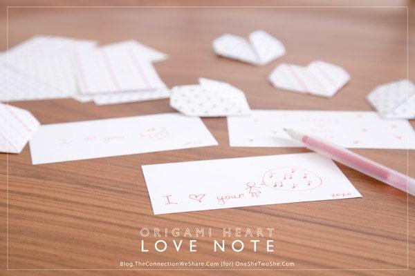 DIY: Paper Heart Note Fold | 400x600