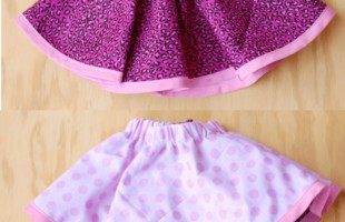 Reversible Skirt for Girls ~ so simple! www.orsoshesays.com
